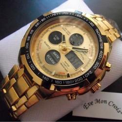 Reloj de Hombre Dorado Luz...