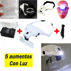 Gafas Con Lupa Luz Led...