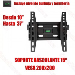 Soporte TV Pared Inclinable...