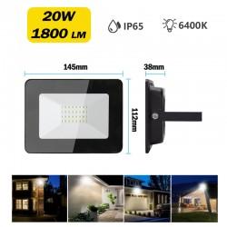 Foco LED Exterior de 20W Proyector